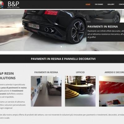 realizzazione sito B&P Resin Solutions